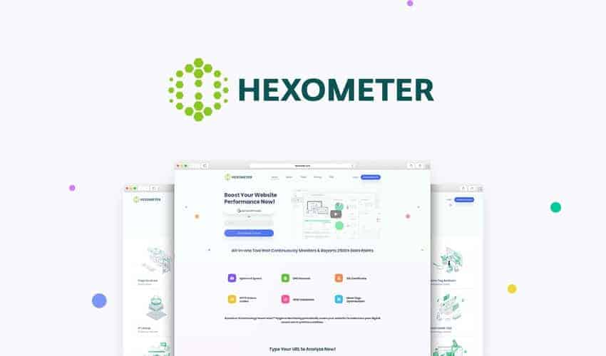 Get 24/7 website monitoring and real-time reporting with Hexometer.