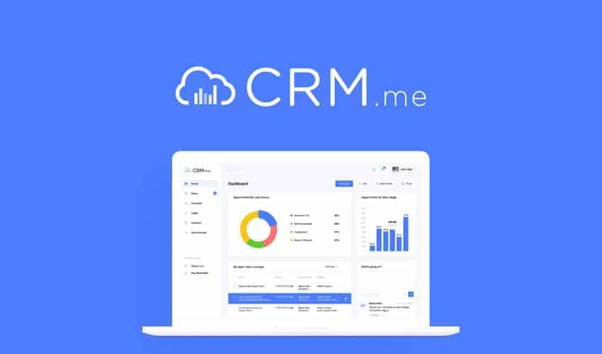 CRM.me manage your sales funnel with automation and gamification.
