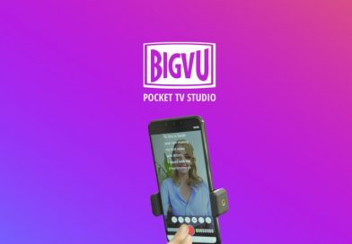 Your personal TV studio, featuring a professional teleprompter, captions, and editing with BigVu